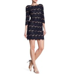 Eliza J - Illusion Lace Shift Dress - Lyst