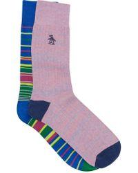 Original Penguin - Assorted Crew Socks - Pack Of 2 - Lyst