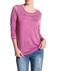 Seven7 - Burnout Studded Long Sleeve Shirt - Lyst