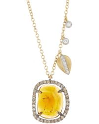 Meira T - 14k Yellow Gold Tourmaline Necklace - Lyst