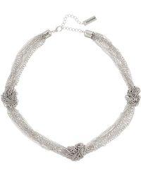 Steve Madden - Multi-strand Knot Necklace - Lyst