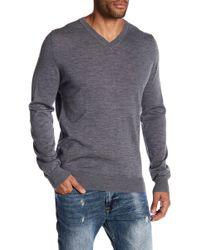 Lindbergh - V-neck Merino Wool Knit Sweater - Lyst
