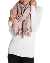 Modena - Solid Plush Boucle Blanket Scarf - Lyst