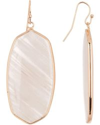 Panacea - Blush Stone Linear Oval Earrings - Lyst