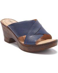 064c9318e0b4 Born - Coney Leather Block Heel Sandals - Lyst