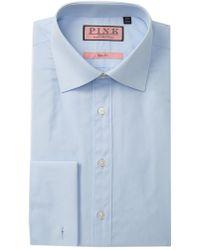 Thomas Pink - Solid Slim Fit Dress Shirt - Lyst