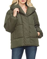 Vince Camuto - Quilted Matte Hooded Jacket - Lyst