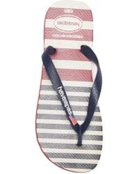 c58bc456bb80 Lyst - Lacoste Carros Striped Flip-flop in White for Men