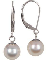Tara Pearls - Sterling Silver 8-8.5mm Akoya Pearl Drop Earrings - Lyst