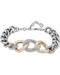 Swarovski - Bound Pave Crystal Chunky Chain Bracelet - Lyst
