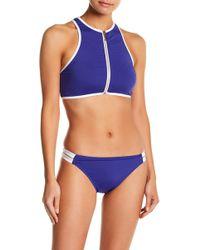 Juicy Couture - Zip Front Rashguard & Bikini - Lyst