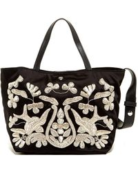 Elizabeth and James - Eloise Embroidered Leather Tote - Lyst