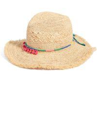 Caslon - (r) Packable Raffia Panama Hat - Lyst