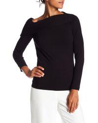 Nanette Nanette Lepore - One Shoulder Long Sleeve Rib Knit Top - Lyst