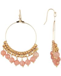Panacea - Peach Moonstone Drop Earrings - Lyst