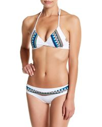 IMSY Swim - Chelsea Triangle Reversible Bikini Top - Lyst