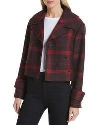 LEWIT - Embellished Plaid Jacket - Lyst