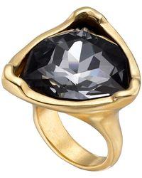 Uno De 50 - Star-tremendous Bezel Set Swarovski Crystal Accented Ring - Lyst