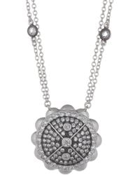 Freida Rothman - Sterling Silver Cz Holiday Necklace - Lyst