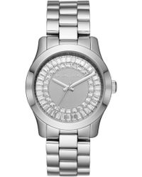 MICHAEL Michael Kors - Women's Jetset Stainless Crystal Dial Bracelet Watch, 40mm - Lyst