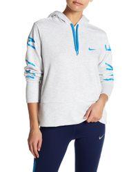 Nike - Drawstring Knit Logo Dri-fit Hoodie - Lyst