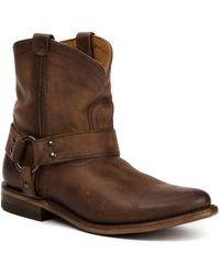 Frye - Wyatt Harness Leather Short Boot - Lyst