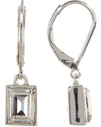 Givenchy - Crystal Rectangle Drop Earrings - Lyst