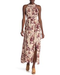 Angie - Floral Printed Maxi Dress - Lyst