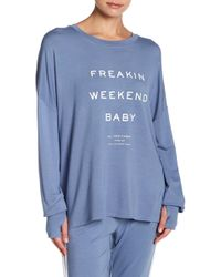 The Laundry Room - Weekend Long Sleeve Baggy Tee - Lyst
