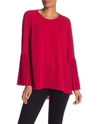 Vince Camuto - Pleated Bell Sleeve Blouse - Lyst