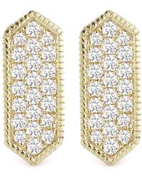 Dana Rebecca - 14k Yellow Gold Diamond Accented Cynthia Rose Bar Earrings - 0.21 Ctw - Lyst