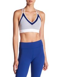 DSGN Yoga - Colorblock Mesh Sports Bra - Lyst