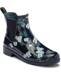 HUNTER - Refined Blossom Print Chelsea Boot - Lyst
