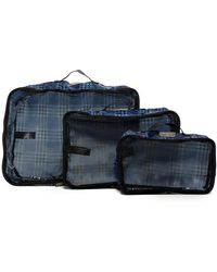 Ben Sherman - 3-piece Packing Cube Set - Check - Lyst