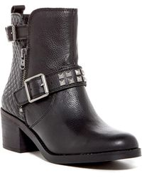 Lucky Brand - Cantini 2 Geo Embossed Leather Boot - Lyst