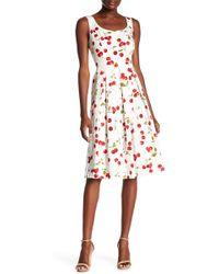 Chetta B - Sleeveless Scoop Neck Cherry Print Dress - Lyst