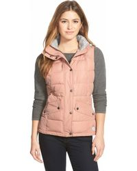 Barbour - 'landry' Hooded Quilted Vest - Lyst
