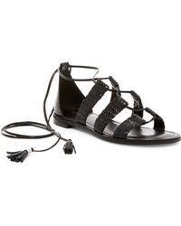 MICHAEL Michael Kors - Monterey Tassel Gladiator Sandal - Lyst