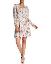 ABS By Allen Schwartz - Surplice V-neck Floral Dress - Lyst