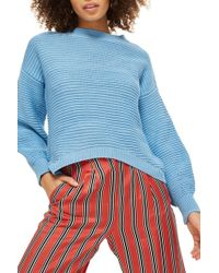TOPSHOP - Balloon Links Sweater - Lyst