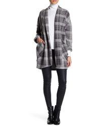 Caslon - Oversized Plaid Jacket (plus Size) - Lyst