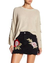 Haute Rogue - Bow Bell Sleeve Pullover Sweater - Lyst
