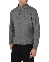 TOPMAN - Textured Harrington Jacket - Lyst