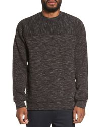 Calibrate - Side Zip Crewneck Sweatshirt - Lyst