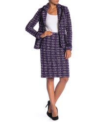St. John - Holiday Tweed Knit Skirt - Lyst