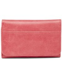 Hobo - Jill Trifold Snake Print Leather Wallet - Lyst