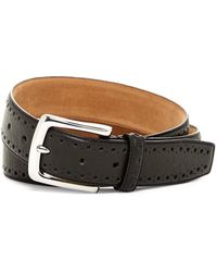 Cole Haan - Perforated Trim Dress Belt - Lyst