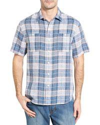 Tommy Bahama - Caldera Plaid Standard Fit Linen Sport Shirt - Lyst