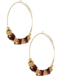 ALEX AND ANI - Trailblazer Beaded Hoop Earrings - Lyst