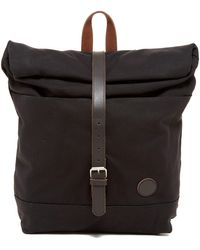 Enter # - Leather Trimmed Roll Top Backpack - Lyst